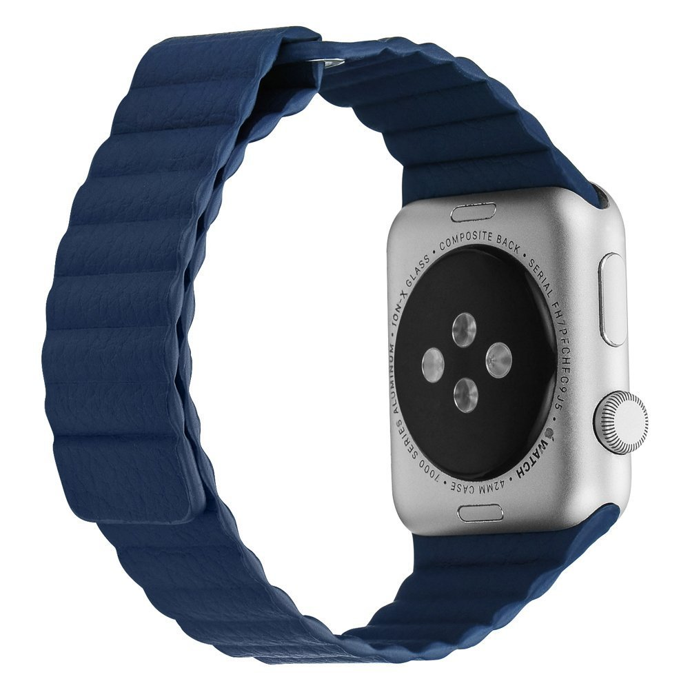 The Bandkin Midnight Blue band for the Apple Watch.