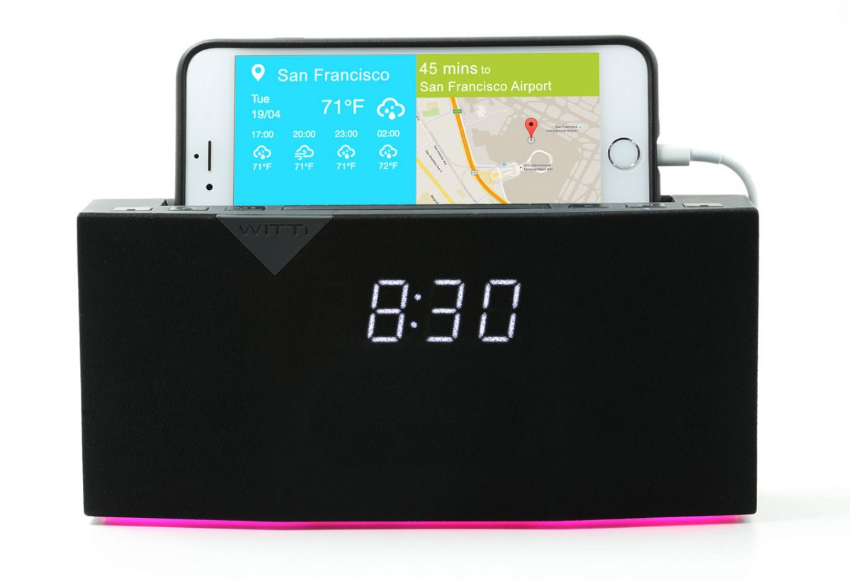 Beddi is a handsome app-controlled alarm clock.