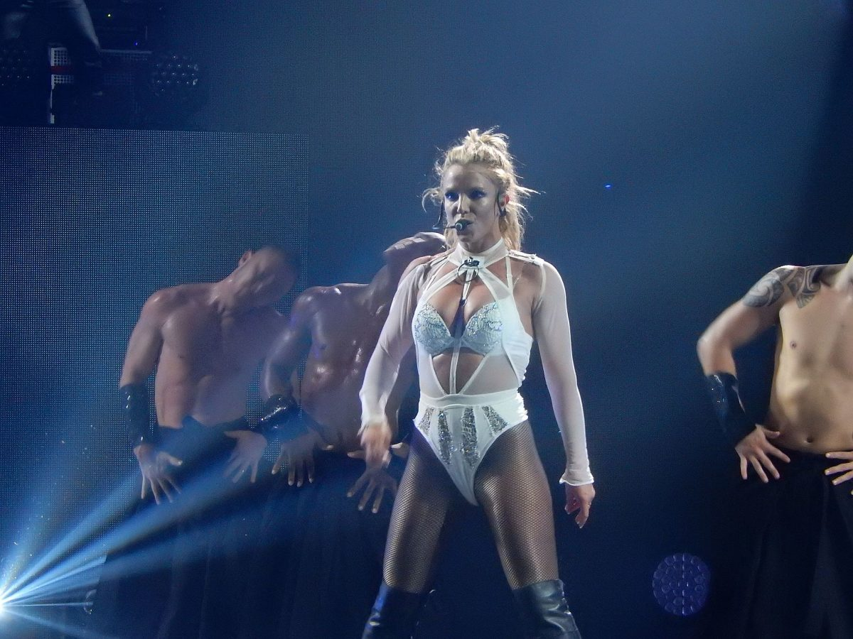 Britney Spears live at the Roundhouse in London at the Apple Music festival