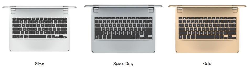 Brydge 12.9 keyboard colors.