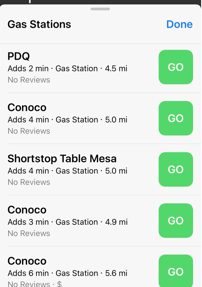 iOS 10 Maps gas stations nearby