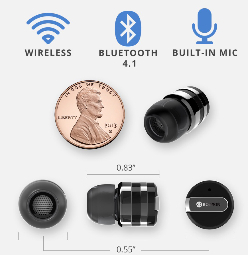 Rowkin Mini claims to be the smallest wireless earbud yet.