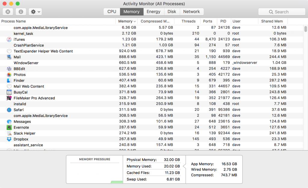 After 9 days of uptime, including a mostly-unused weekend, 6+GB of swap in-use