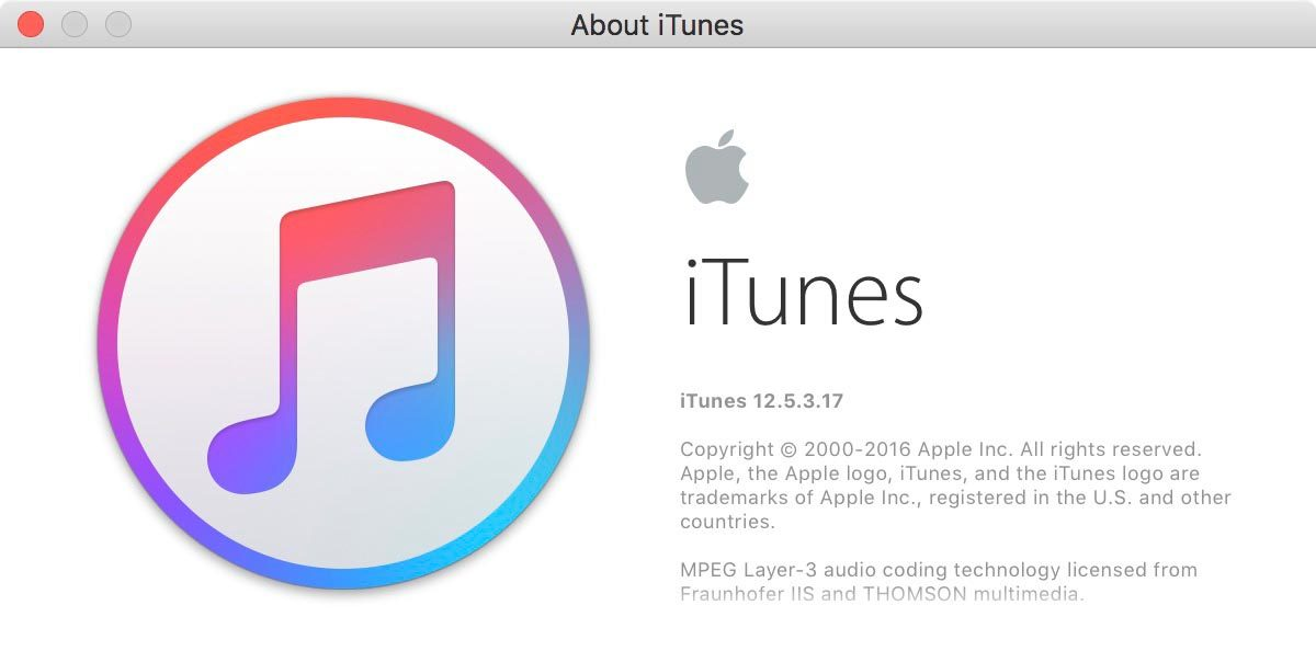 About iTunes 12.5.3.17