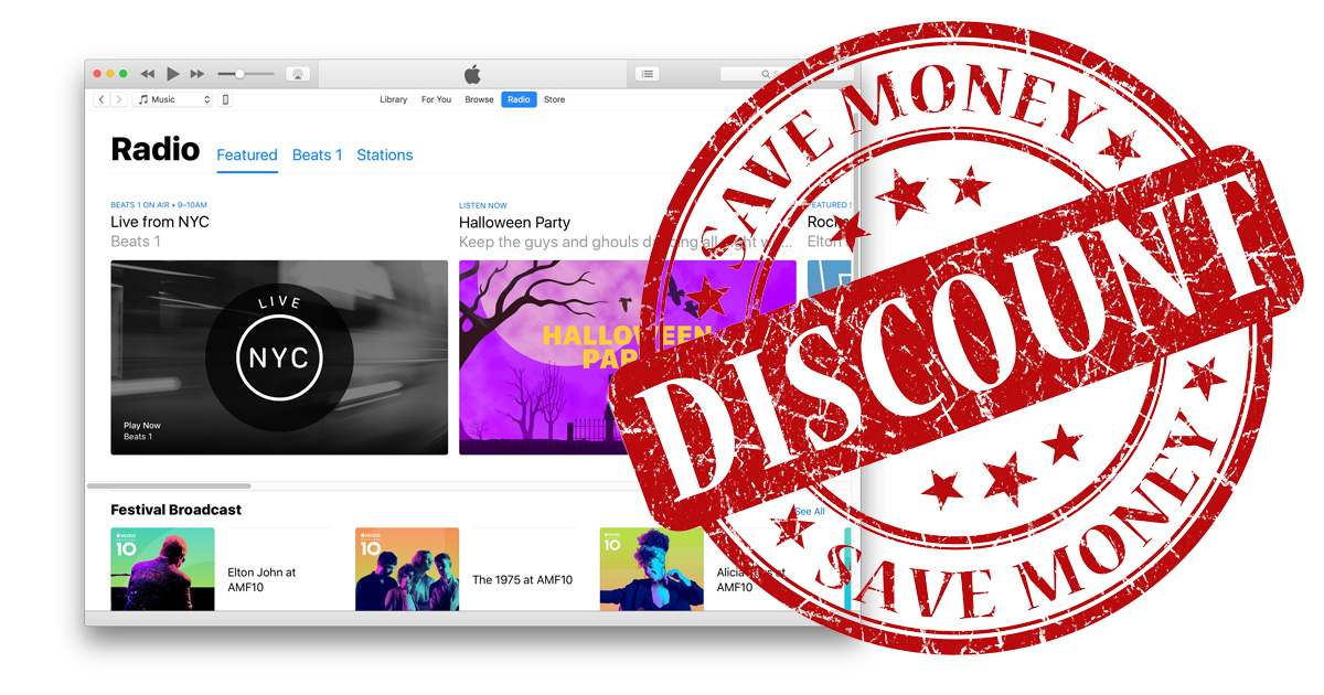 Apple Music price discount