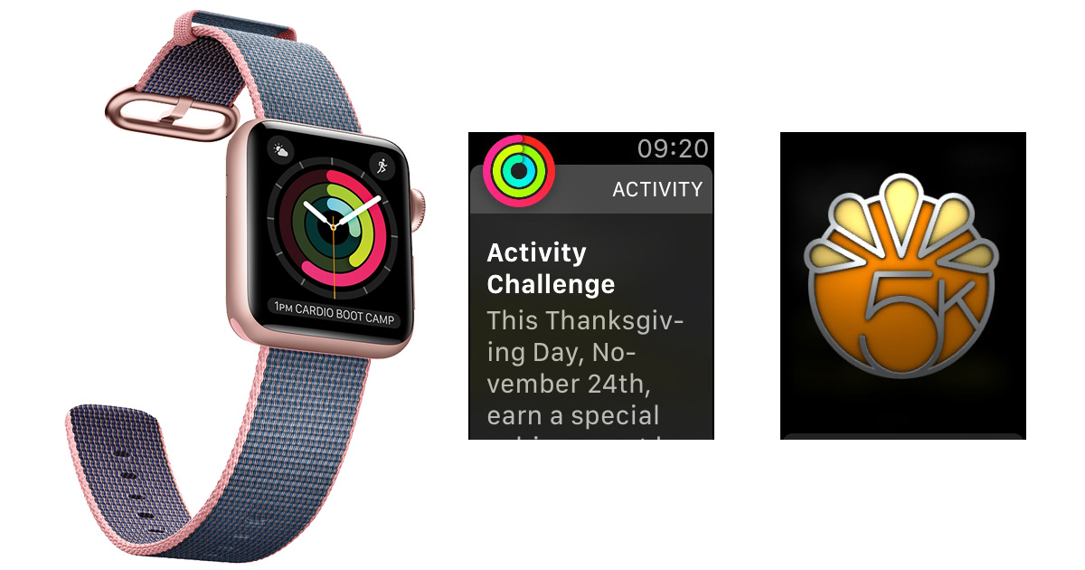 Apple Watch 5K Thanksgiving Challenge