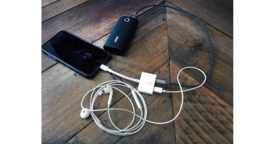 Belkin Lightning Audio + Charge RockStar with iPhone, EarPods, and Charger