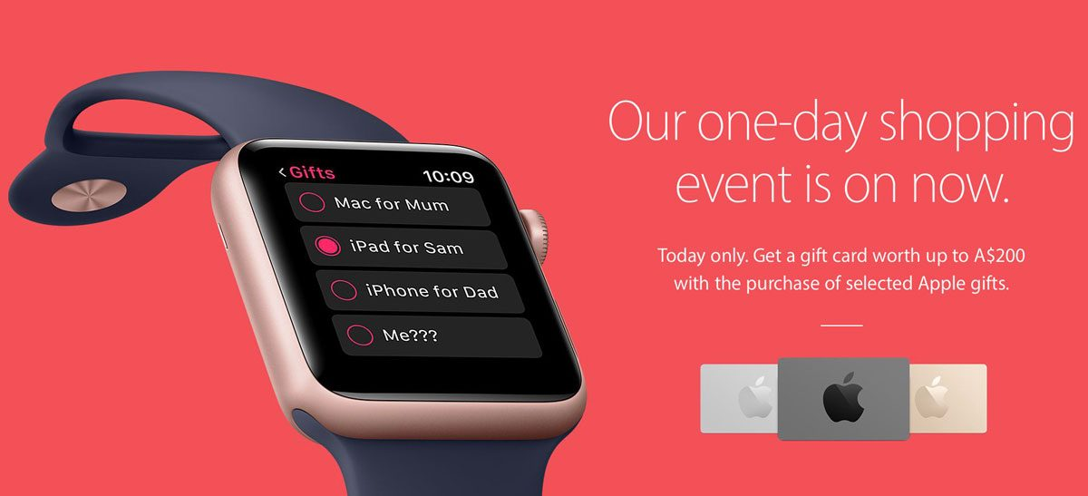 Apple Black Friday Promotion Banner