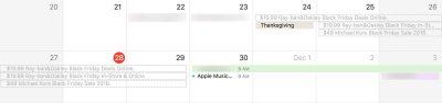 Calendar spam invites in macOS Sierra's Calendar app.