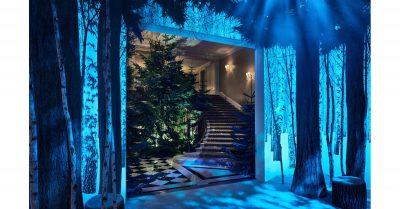 Claridge's Christmas Tree by Jony Ive and Marc Newson, Courtesy of Wallpaper