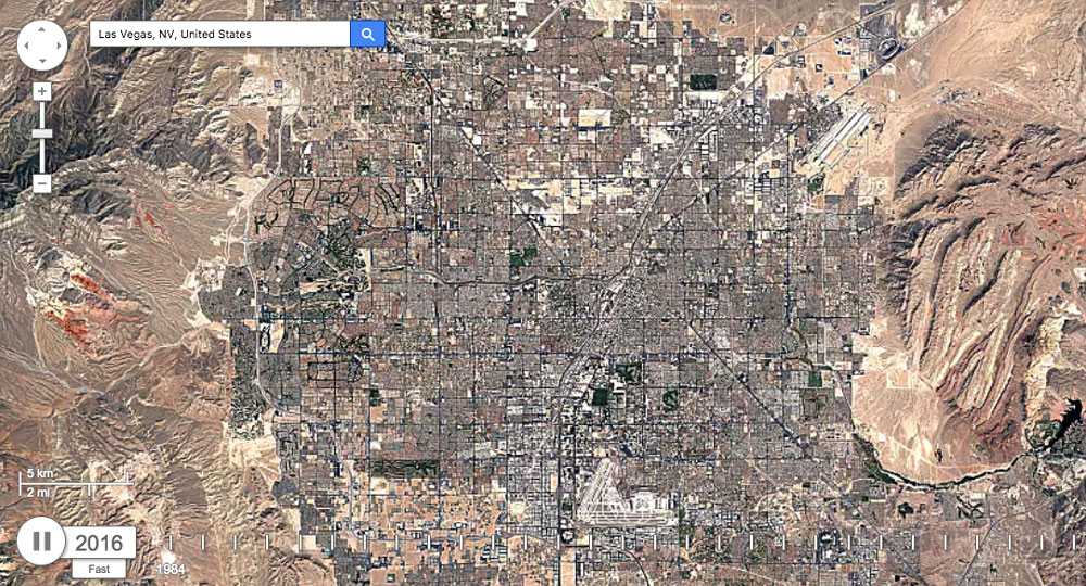 Watch Nature Rage and Man Sprawl with Google Earth Timelapse
