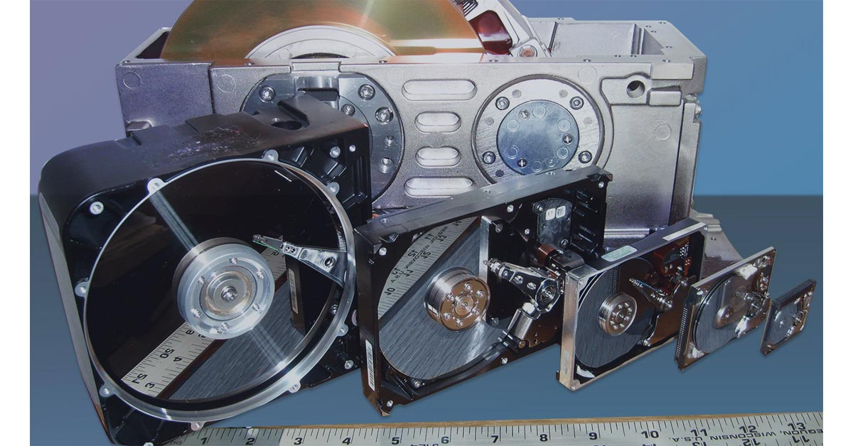 Hard Drive Examples from Many Years