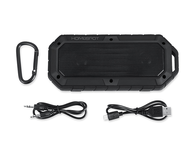 HomeSpot Rugged Waterproof Bluetooth Speaker: $29.99