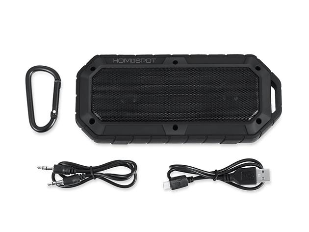 HomeSpot Rugged Waterproof Bluetooth Speaker: $29.99