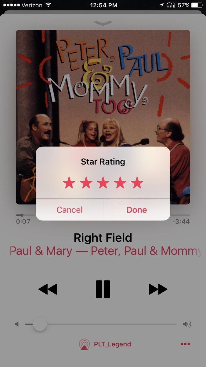 Star Rating Sheet in iOS 10.2 beta