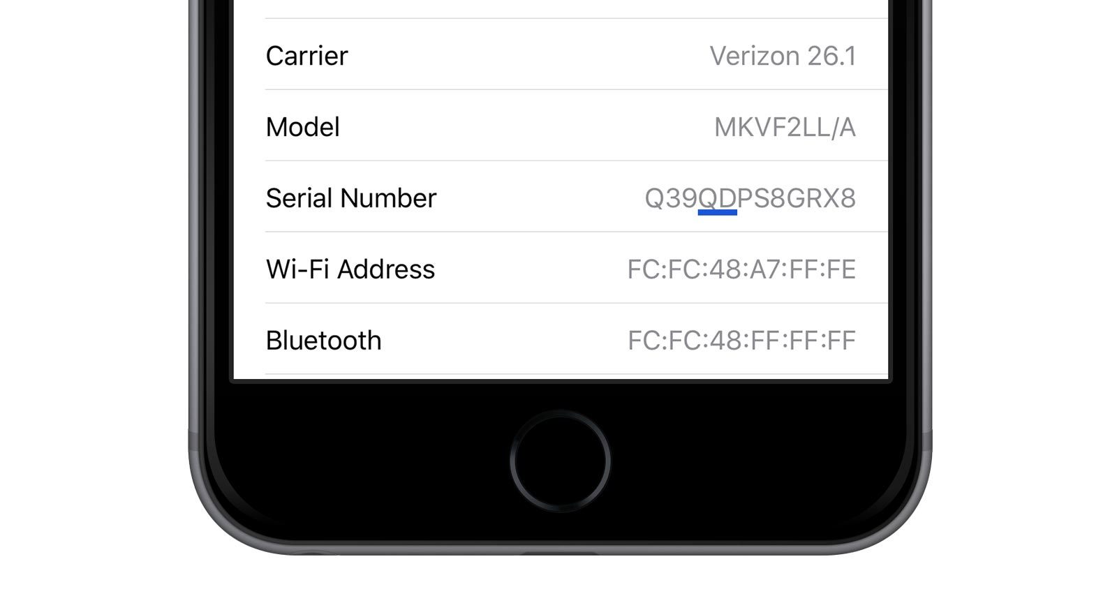iphone 6s battery replacement serial number