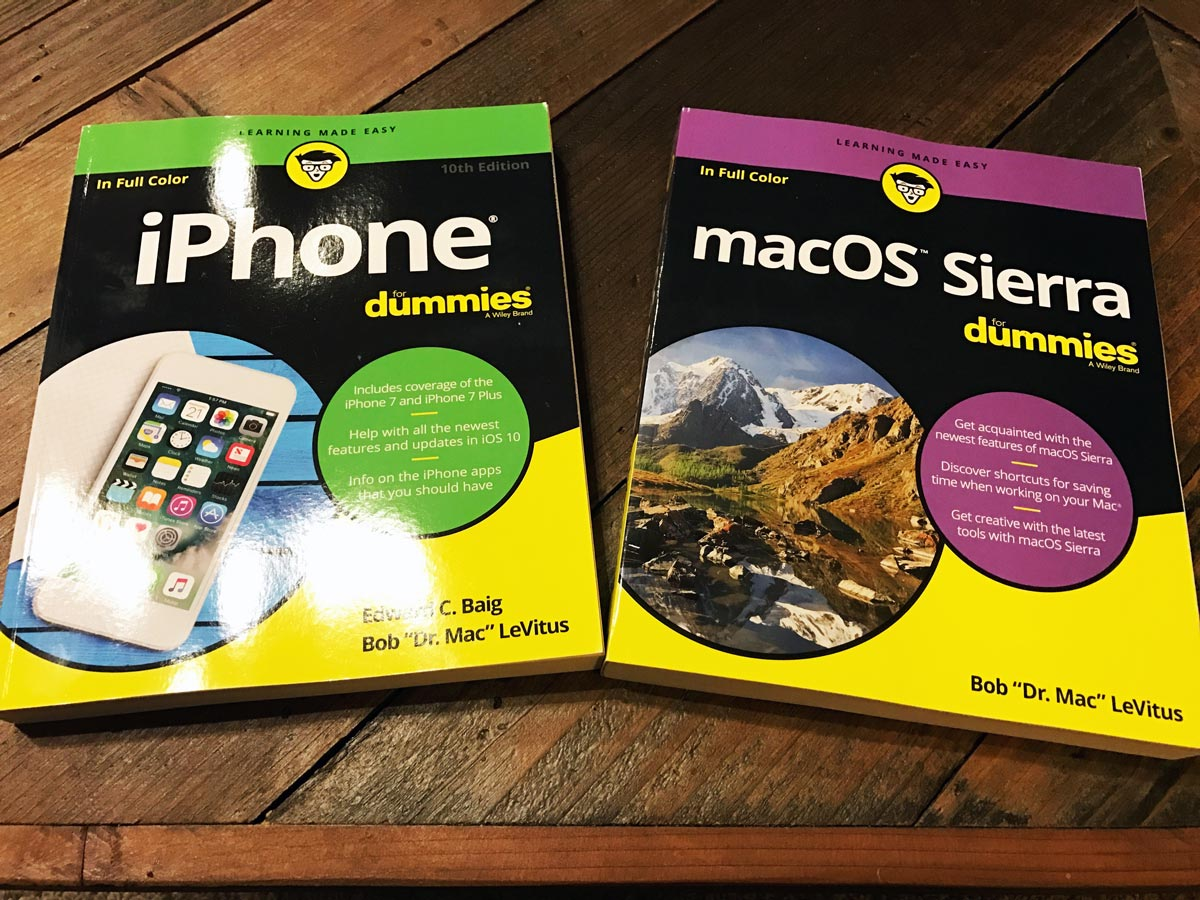 iPhone for Dummies and macOS Sierra for Dummies