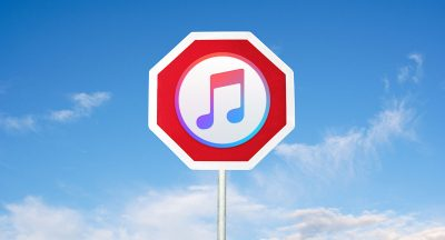 itunes stop sign