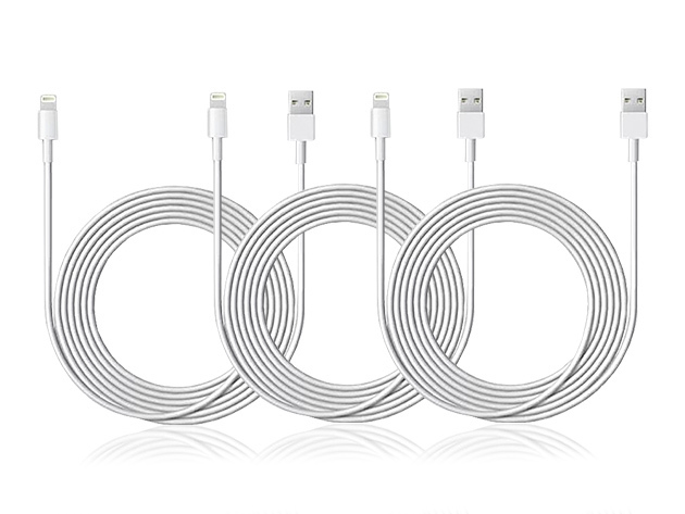 10-Ft MFi-Certified Lightning Cable 3-Pack: $21.99