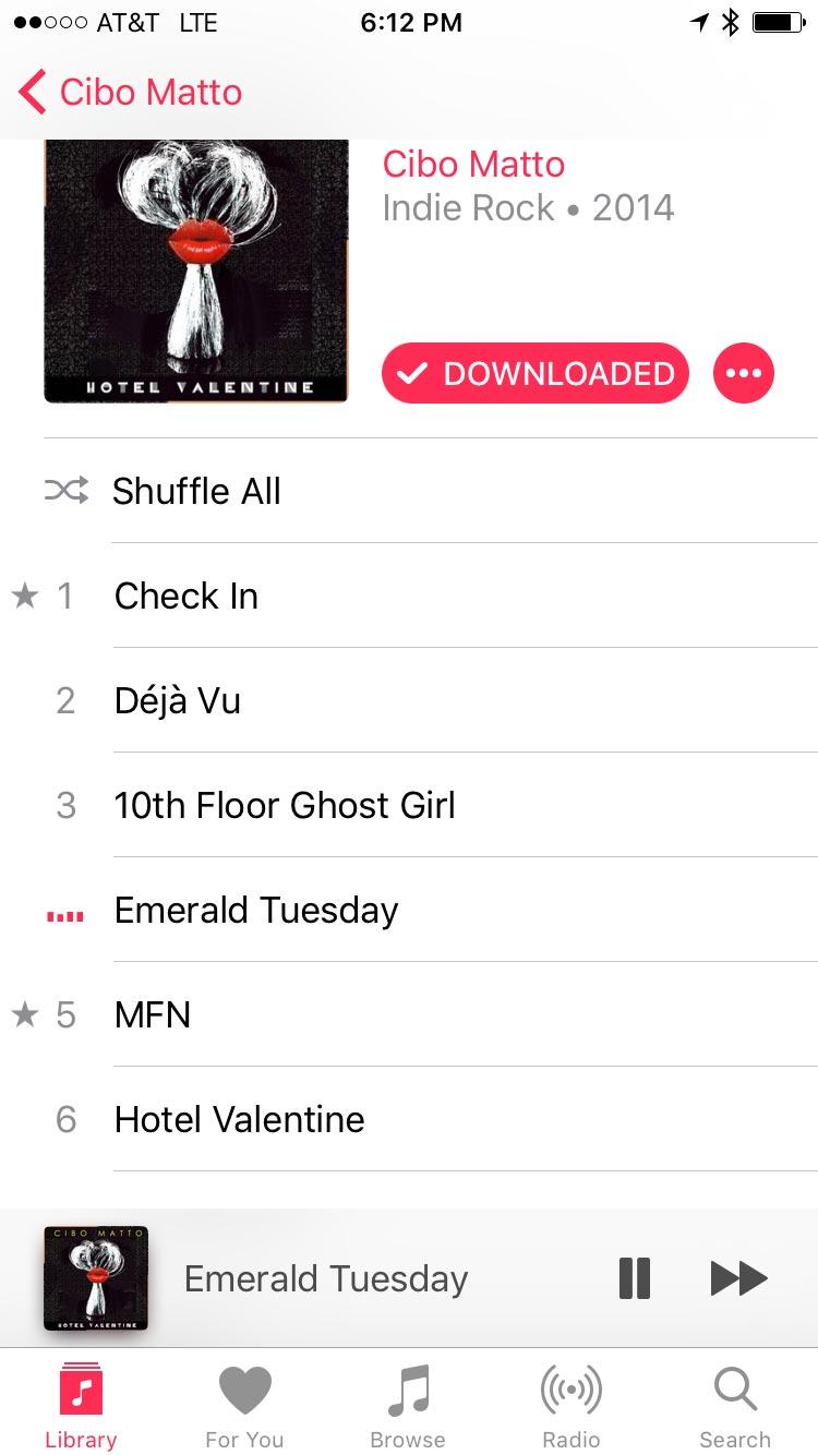 Music App in iOS 10 - View Album