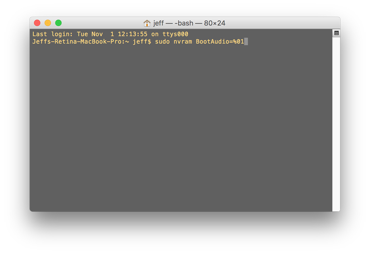 Use sudo nvram BootAudio=%01 to re-enable the MacBook Pro startup chime