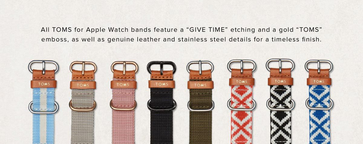 TOMS Apple Watch Straps