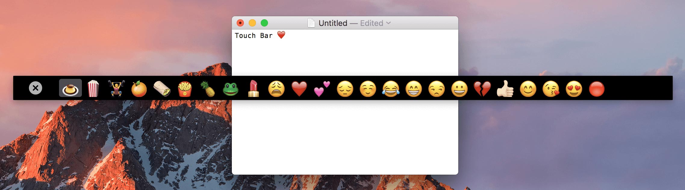 TouchBarDemoApp on GitHub: Run Touch Bar on iPad or macOS Screen