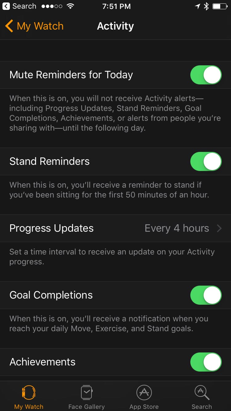 The activity tab in iOS 10 for watchOS 3