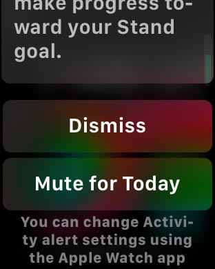 Apple Watch Activity Reminder