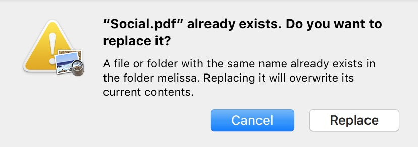 Be sure to rename your encrypted PDF when saving so you don't overwrite the original file