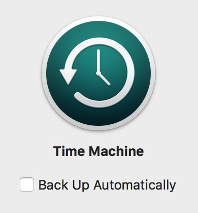 Turning off Time Machine Backups from Time Machine's Preference Pane