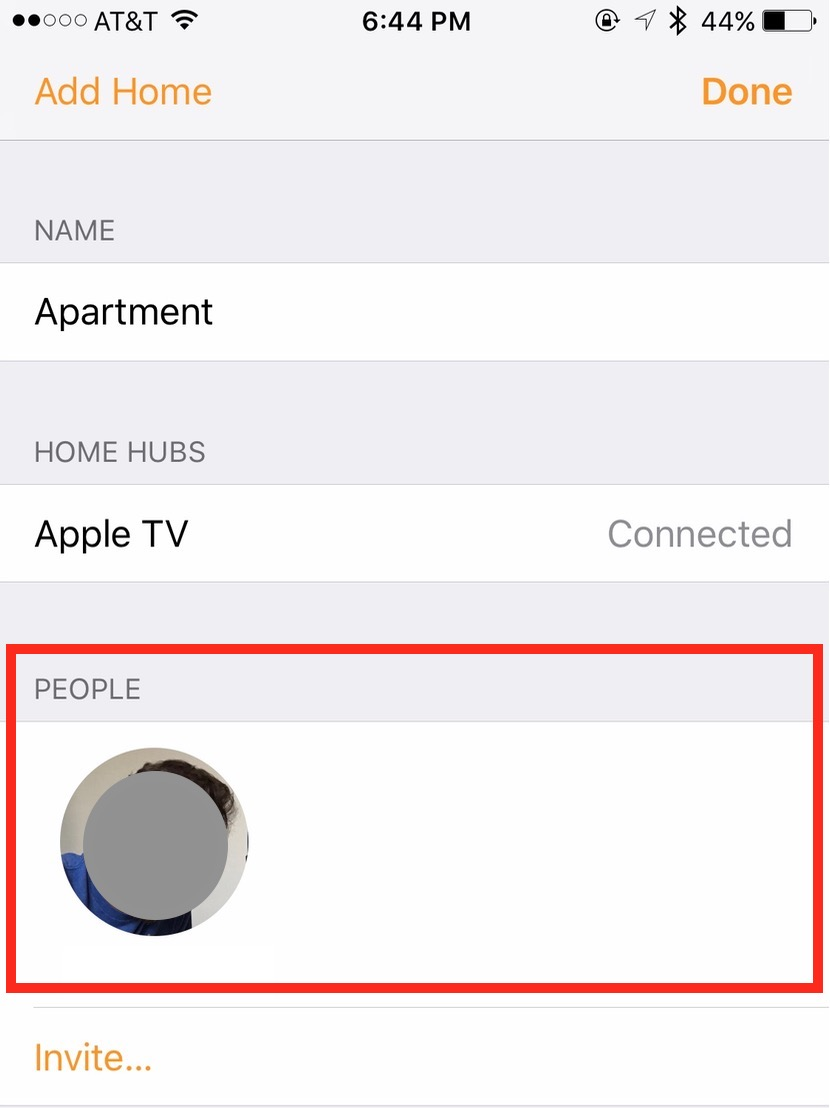 People view in the Home app showing everyone who can control your HomeKit devices
