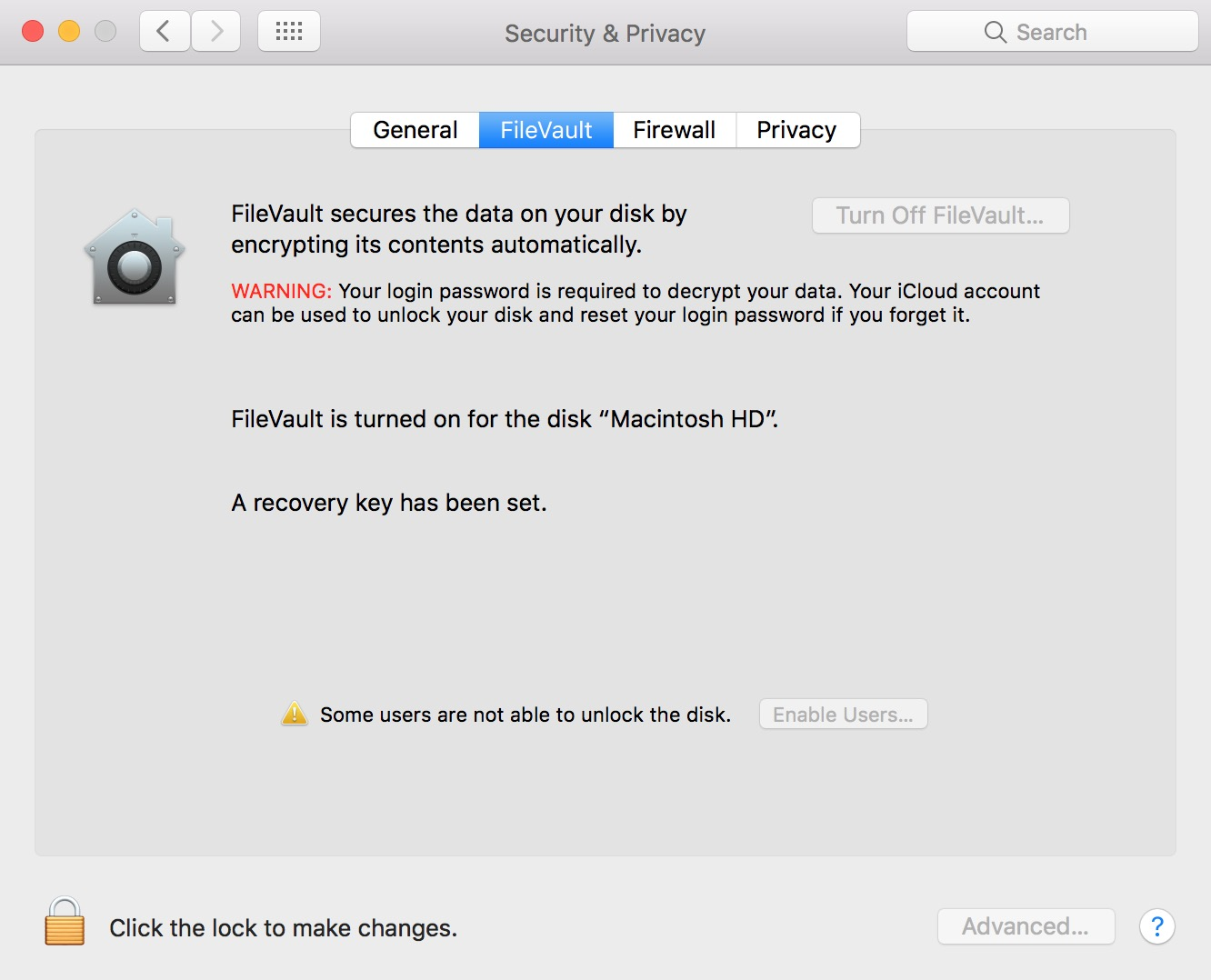 Use FileVault on your Mac to encrypt all of your data