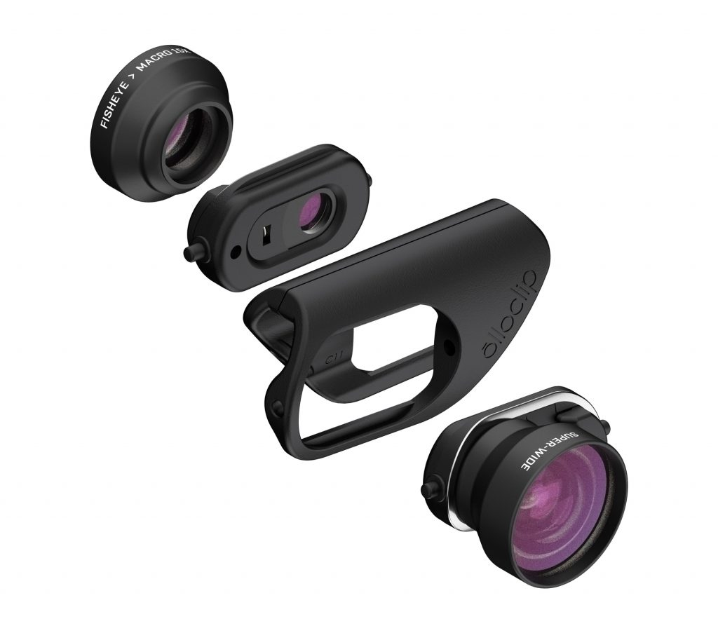 The latest lens sets from Olloclip work with most screen protectors. YEA!!