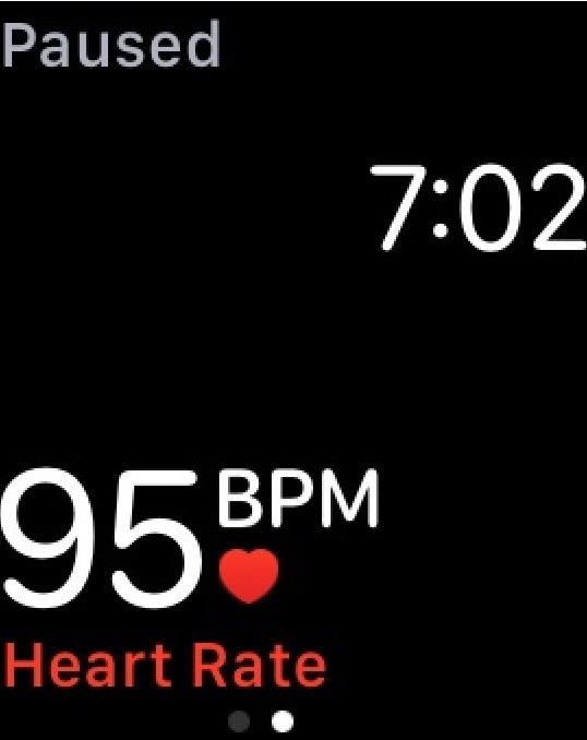 Apple Watch Workout app showing customized single metric