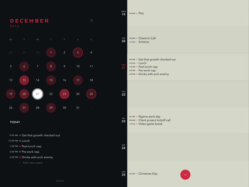 Timepage for iPad