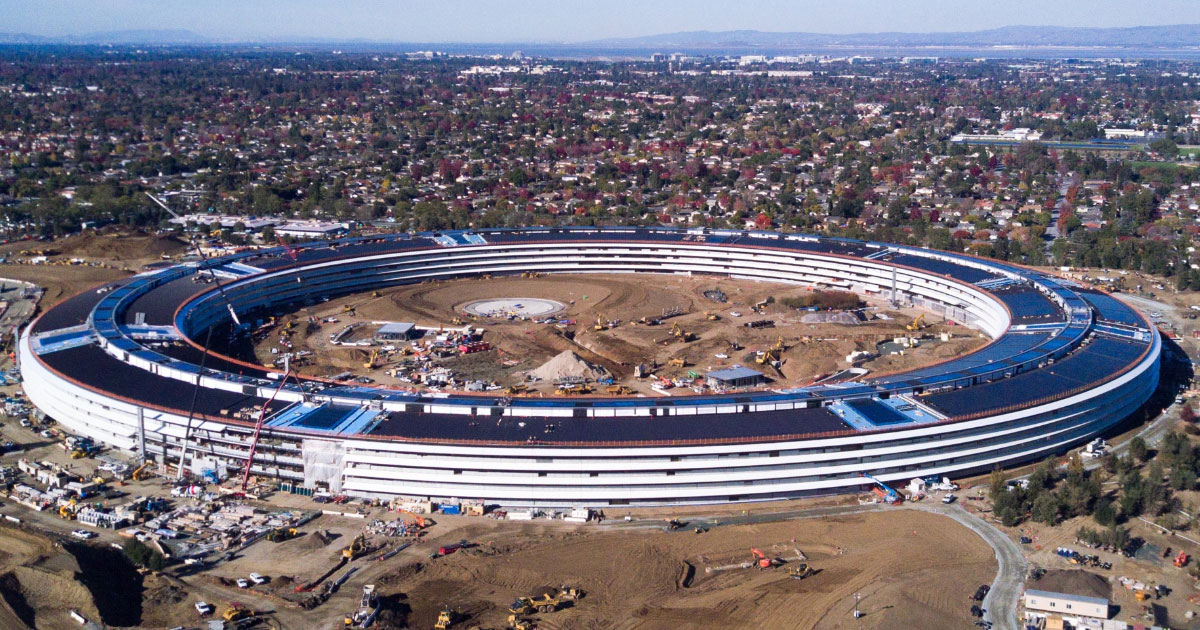 Latest Apple Campus 2 Drone Shot Looks Star Trek