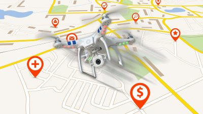 apple maps drones