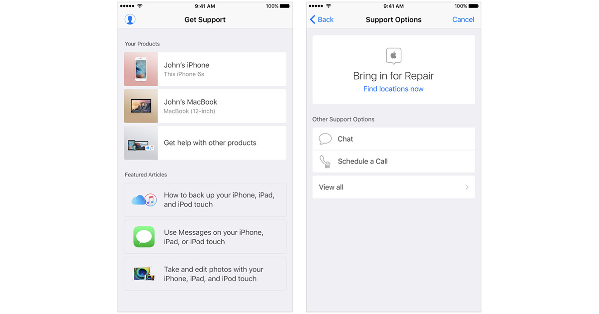 Apple Support App for iPhone, iPad Comes to US App Store