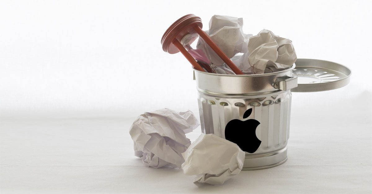 Time in the Apple Trash