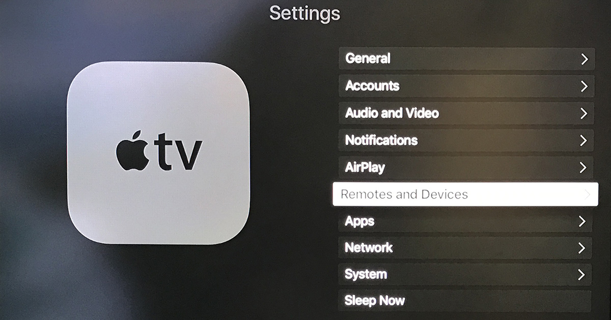 Remotes and Devices in Apple TV Settings hides the control for changing the Home button on the remote back to its original function