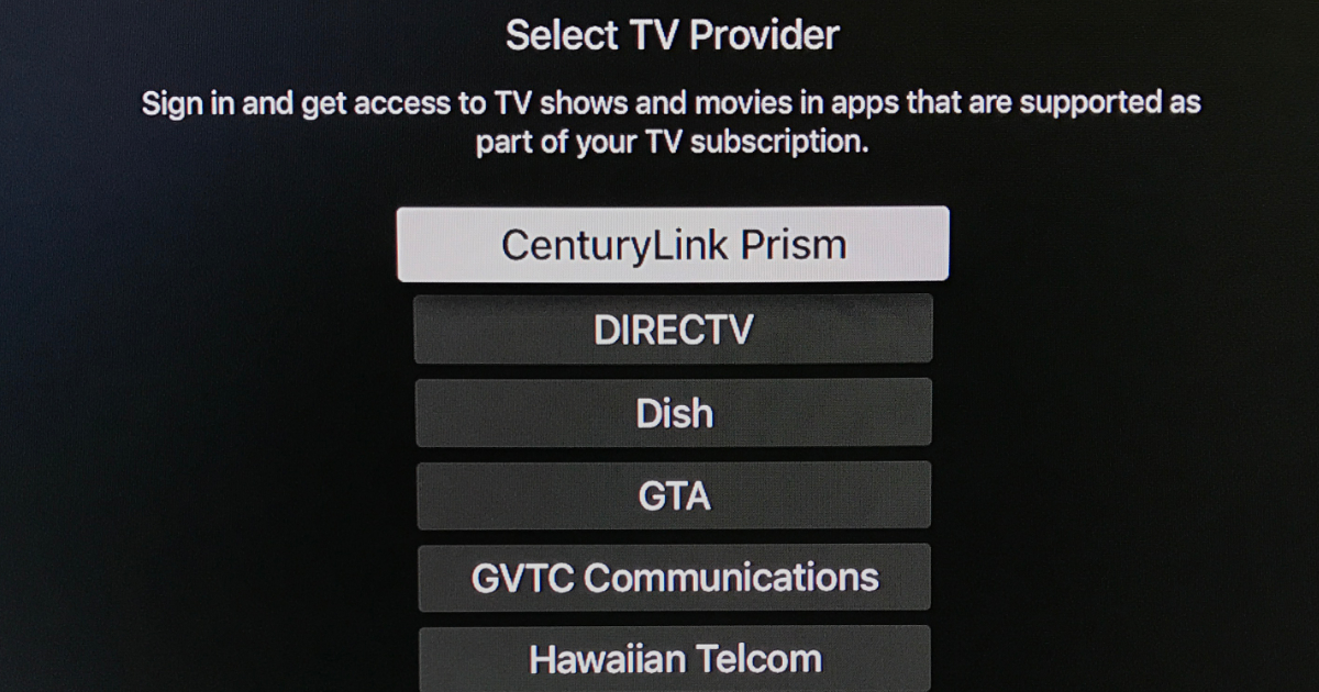 Apple TV single sign-on goes live for Apple TV