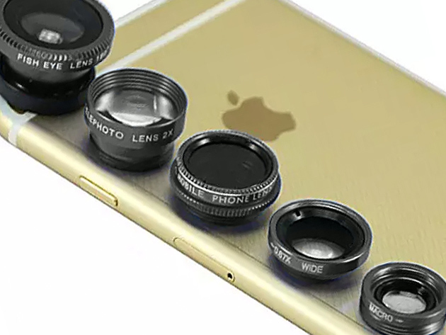 Clip and Snap Smartphone Camera Lenses 5-Pack: $23.99