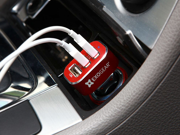 Exocharge 3-Port USB Car Charger: $14.99