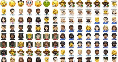Some of the new emojis in iOS 10.2
