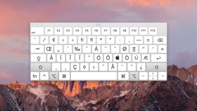 keyboard viewer modifiers sierra