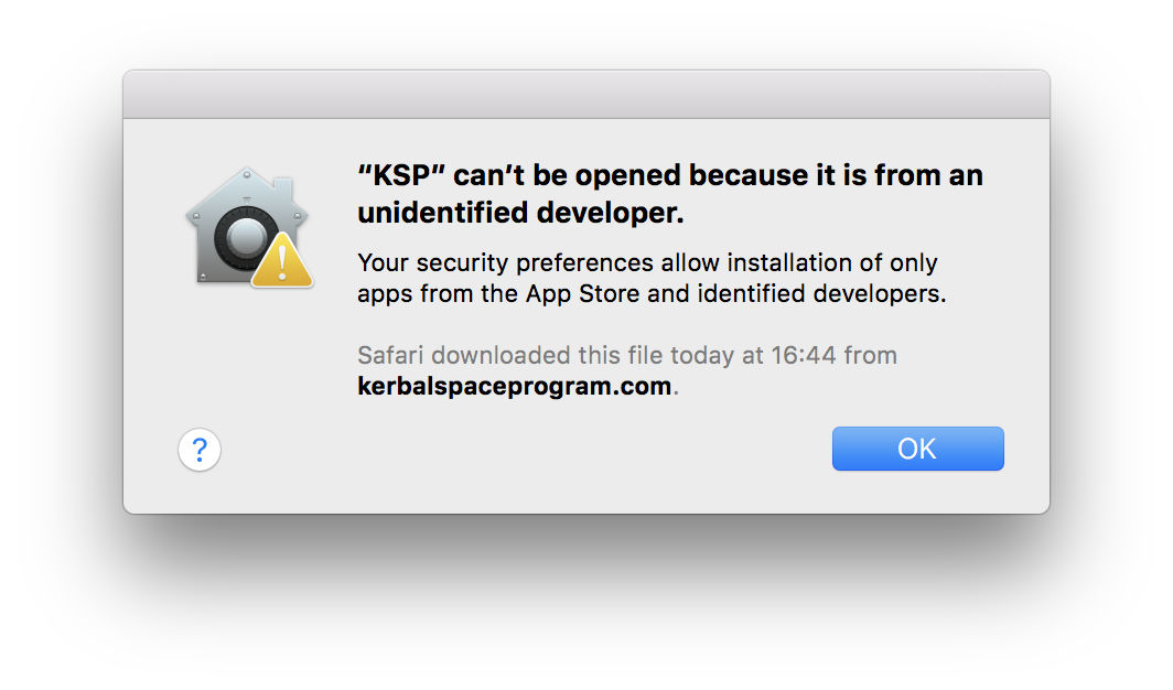 macOS Sierra stopping an unsigned app from launching