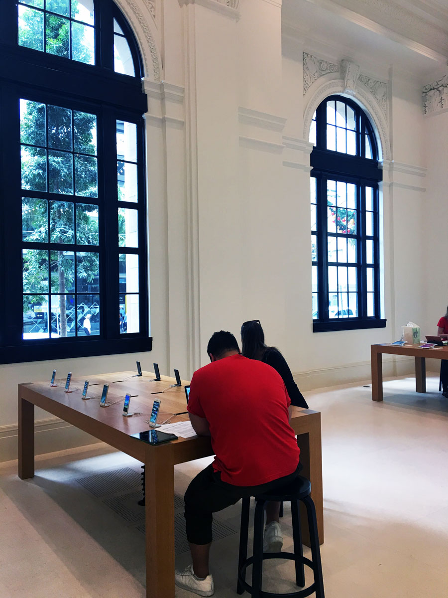 Another view inside Apple Brisbane