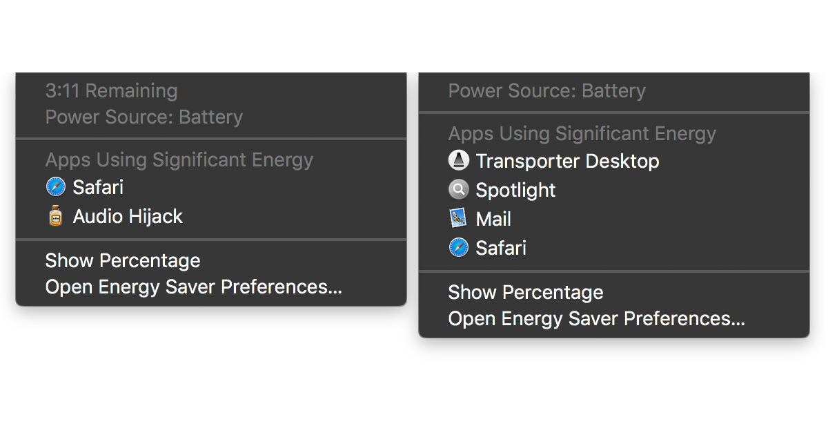Apple removed the battery time remaining estimate in macOS 10.12.2