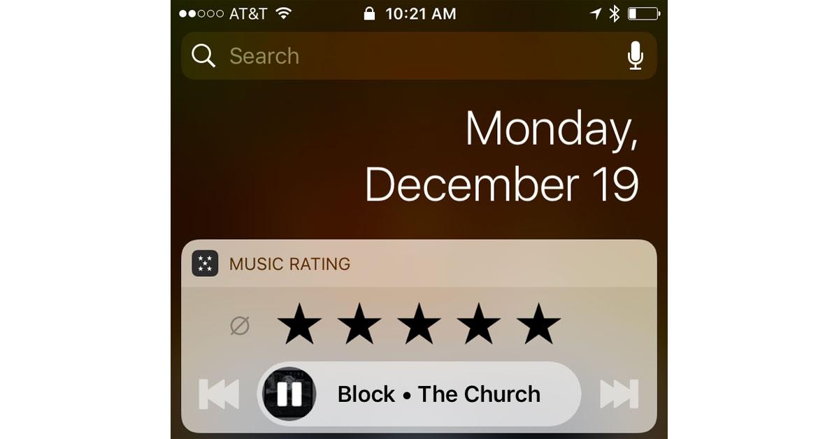 Music Rating Widget Screenshot